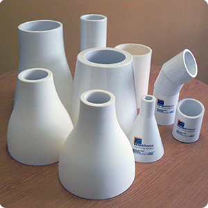 Alumina spigots, wear sleeves, bends and reducers